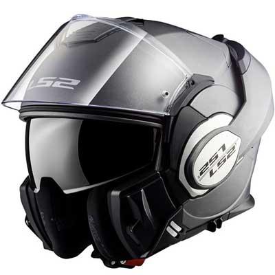 LS2 Valiant FF399 Solid Modular Motorcycle Helmet Matte Titanium