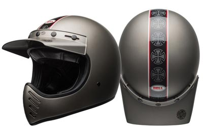 Bell-Moto-3-Independent-matt-titanium-crash-helmet-top-view