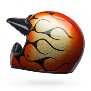 Bell-Moto3-Chemical-Candy-orange-flames-retro-helmet-back-view