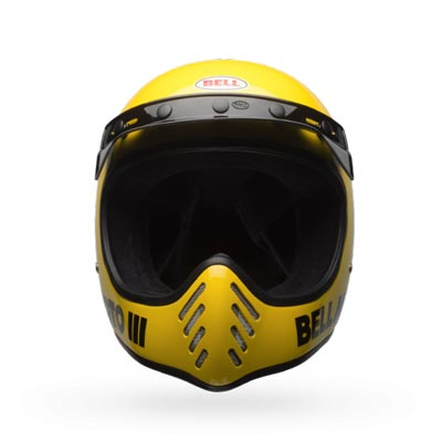 Bell-Moto3-classic-yellow-motorcycle-crash-helmet-front-view