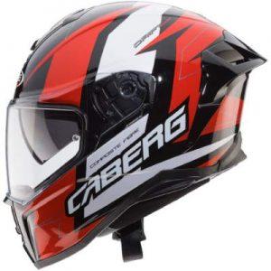 caberg drift evo Speedster motorbike helmet black red white side view
