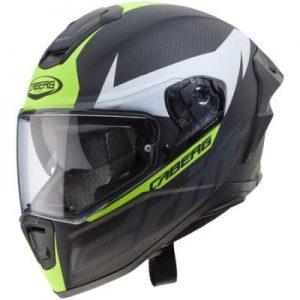 caberg drift evo carbon motorcycle helmet black yellow white side view