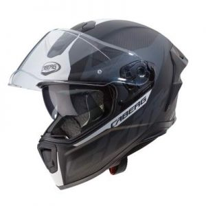 caberg drift evo carbon motorcycle helmet matt anthracite white sun visor