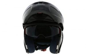 duchinni d606 gloss black modular helmet front view open