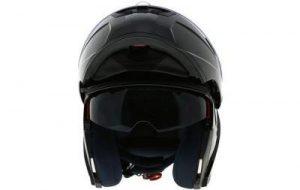 duchinni d606 gloss black modular helmet front view open