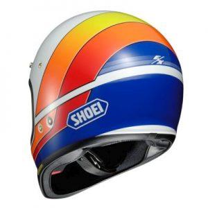 Shoei Ex-Zero motorcycle helmet Equation TC-2 rear view