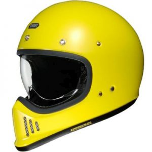 Shoei Ex-Zero retro helmet in gloss hi viz yellow side view