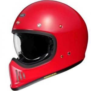 Shoei Ex-Zero retro helmet in gloss red yellow side view