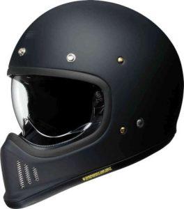 Shoei Ex-Zero retro helmet in matt black side view