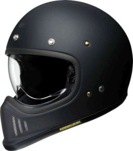 Shoei Ex-Zero retro helmet in matt black side view