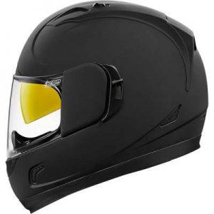 icon alliance GT motorcycle helmet rubatone matt black side view