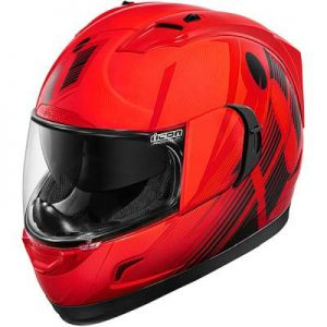 icon alliance GT primary in red helmet side view