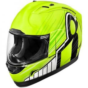 icon alliance crash helmet overlord fluo yellow rear view