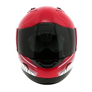 icon alliance crash helmet overlord red front view