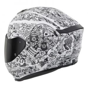 scorpion exo r 410 Shake motorcycle helmet side rear view