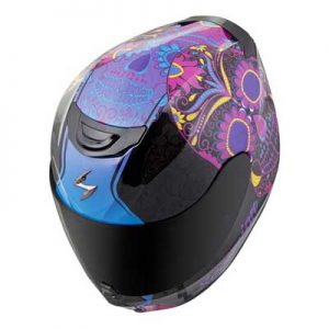scorpion-exo-r-410-motorcycle-helmet-Sugar-Skull-pink-top-view