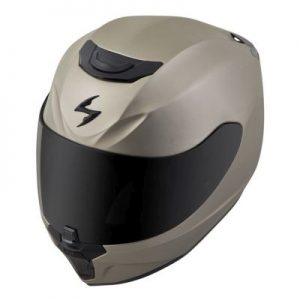 scorpion exo r 410 titanium motorcycle helmet top side view