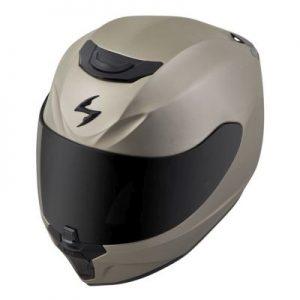 scorpion exo r 410 titanium motorcycle helmet top side view
