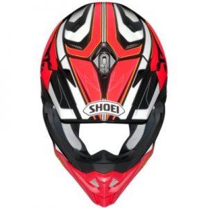 shoei vfx evo brayton motocross crash helmet top view