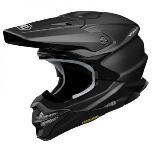 shoei vfx evo crash helmet matt black side view