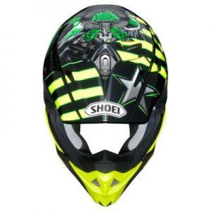 shoei vfx evo josh grant motocross crash helmet top view