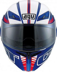 AGV Numo Evo ST Seattle red whte blue helmet front view