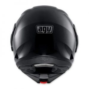 AGV Numo Evo ST gloss black modular helmt rear view
