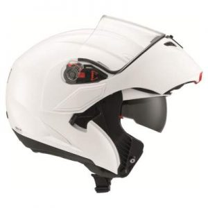 AGV Numo Evo solid white helmet side view
