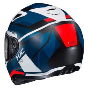 hjc i70 elim full face motorcycle crash helmet rear view