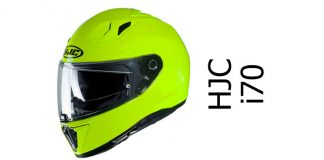 hjc i70 in Hi Viz fluo yellow side view