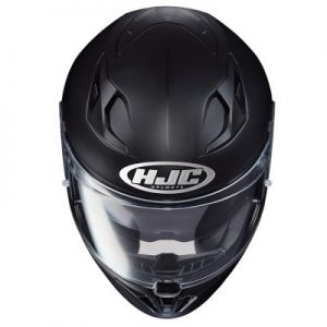 hjc i70 matt black motorcycle crash helmet top view