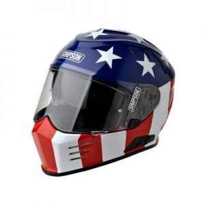 simpson ghost bandit glory crash helmet front view
