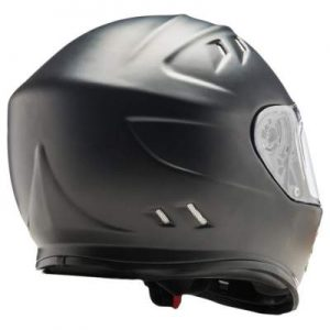 simpson ghost bandit solid matt black rear view