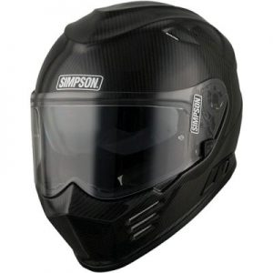 simpson Ghost Bandit carbon fibre full face helmet front view