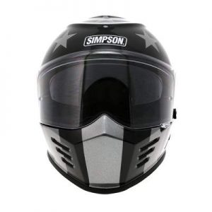 simpson venom subdued crash helmet front view