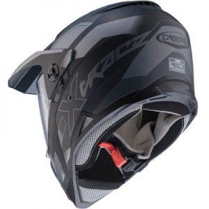 caberg x-trace dual sport helmet spark black grey rear view