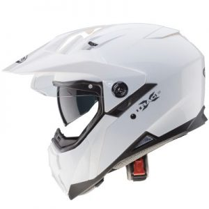 caberg x-trace dual sport helmet white side view