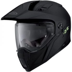 caberg x-trace matt black helmet side view