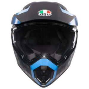 AGV AX9 antarctica motocross helmet front