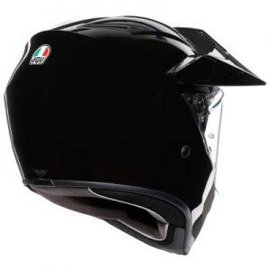 AGV AX9 solid gloss black crash helmet rear