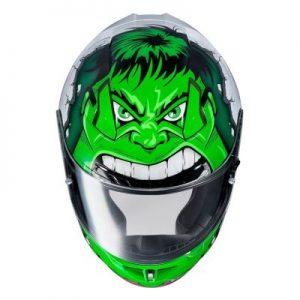 HJC CL17 hulk motorcycle crash helmet top view