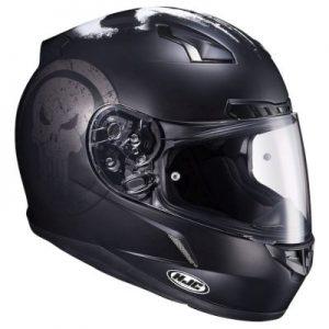 HJC CL17 punisher motorcycle crash helmet side view