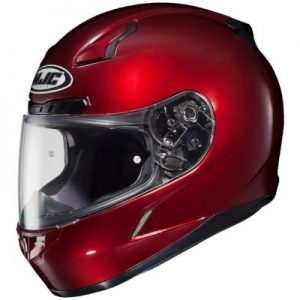 HJC CL17 wineberry red motorcycle helmet side view