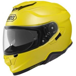 Shoei GT Air II 2 brilliant yellow touring helmet side view