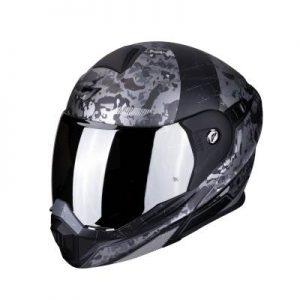 scorpion adx-1 battleflage black silver helmet front