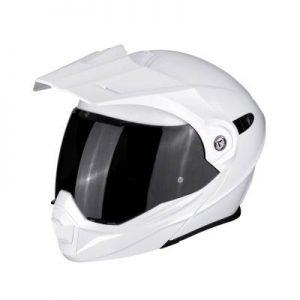 scorpion exo adx 1 solid white modular dual sport helmet