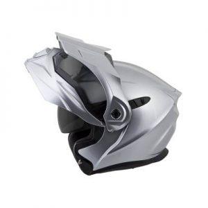 scorpion exo at950 hypersilver modular adventure helmet open