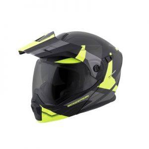 scorpion exo at950 neocon hi viz adventure helmet side view