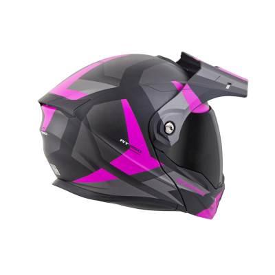scorpion exo at950 neocon pink adventure helmet rear view