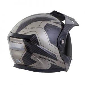 scorpion exo at950 tucson titanium adventure helmet rear